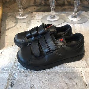 Boys Prada black Velcro sneakers sz 27